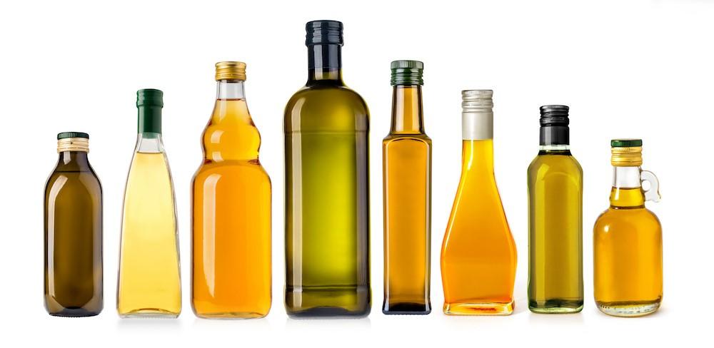 様々な油の瓶