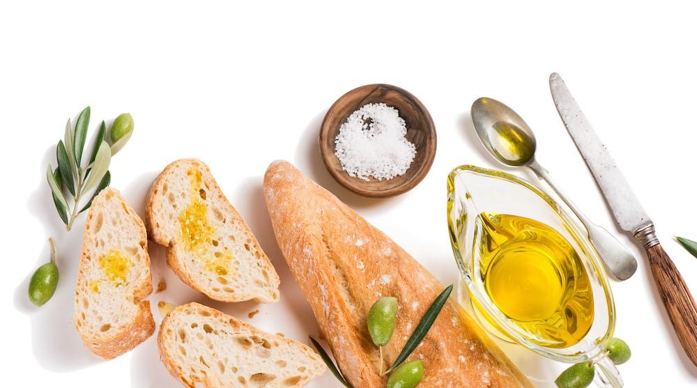 アマニ油のかかったパン