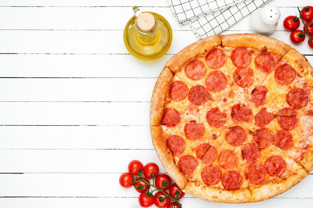 ピザとえごま油の入った瓶