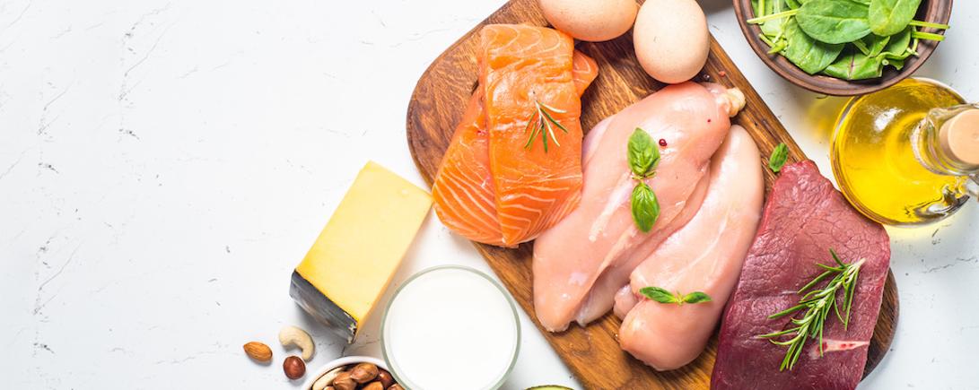 たんぱく質が多く含まれる様々な食材