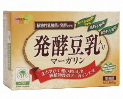 発酵豆乳入りマーガリンのパッケージ