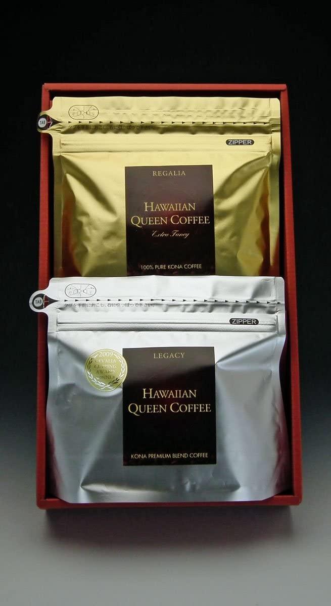 ハワイアンクイーンコーヒー 「HQCギフトセットE 200g 2種詰合せ堪能セット」