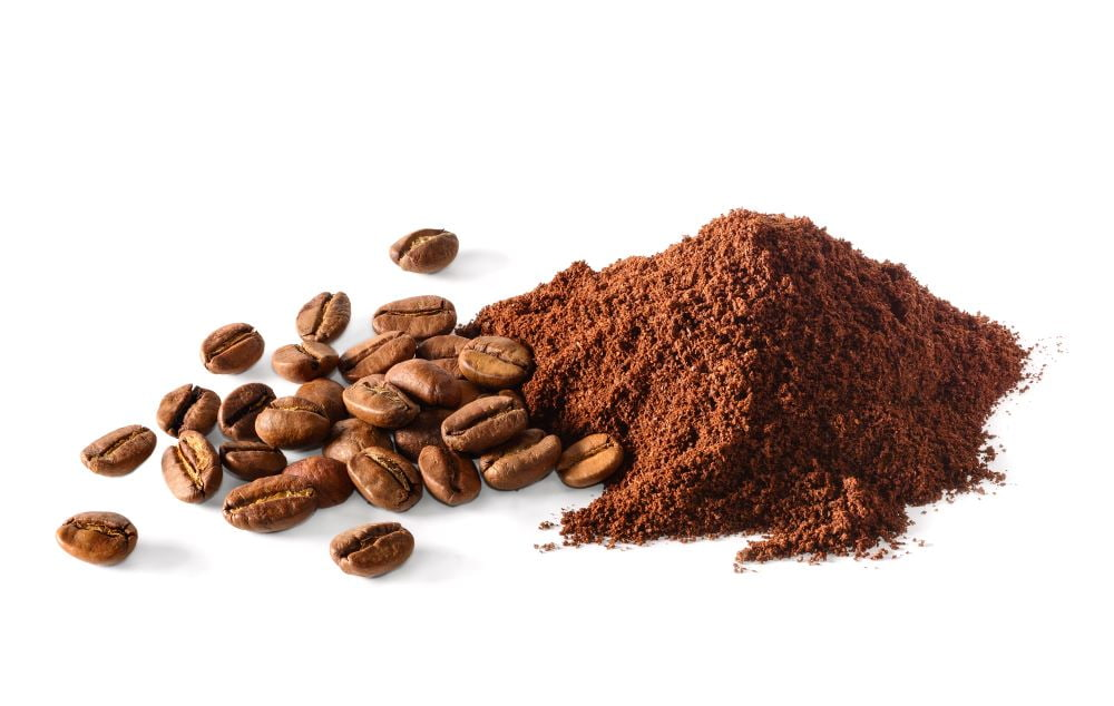 コーヒーの豆と粉