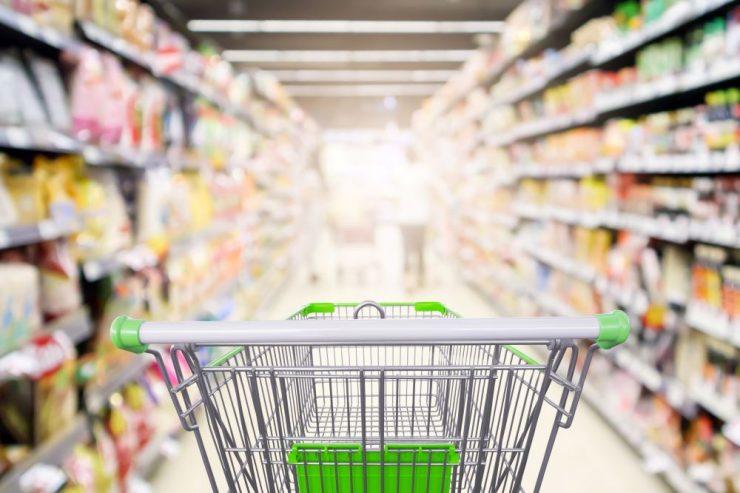 スーパーマーケットにあるカート